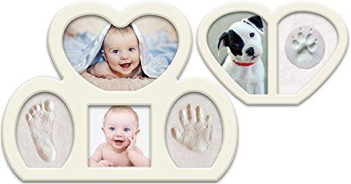 Epicoz Bundle. Baby Handprint and Footprint Photo Frame Kit. Unique Christening and Baptism Idea. Newborn Babyprints Keepsake. from Epicoz Baby