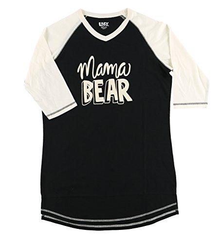 Mama Bear Women's Legging Womens Pajama Shirt TOP by LazyOne | Pajama TOP for Women (Large)