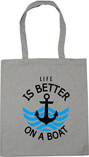 better Gym 42cm is HippoWarehouse 10 Shopping a Bag litres Beach boat Grey Tote on x38cm Light Life 1ggnR8