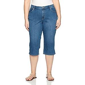 Lee Women's Plus-Size Relaxed-Fit Denim Capri Pant