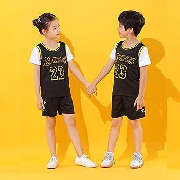 camiseta de jugador de baloncesto Ch/ándal deportivo Lakers #23James ni/ño camiseta ni/ña Jersey BASPORT Jersey para ni/ños Jersey