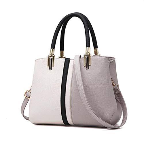 Tote Gran de Cuero Bolsos de Purple Bag 29x14x21cm Capacidad Gray dqtXwHxH