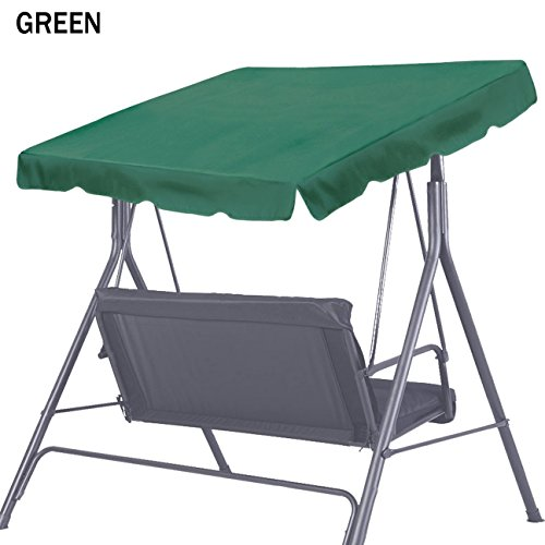 Strong Camel New 73 ''x52'' Swing Canopy Replacement Porch Top Cover Seat Patio Outdoor Furniture (Green) by Strong Camel