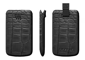 Katinkas USA 403035 Premium Leather Case for Samsung Wave 2 GT - S8530 crocodile - 1 Pack - Case - Retail Packaging - Black