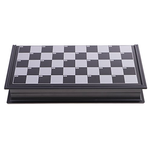 Draughts Checkers Set in Folding Plastic Board Case Christmas Gift ()