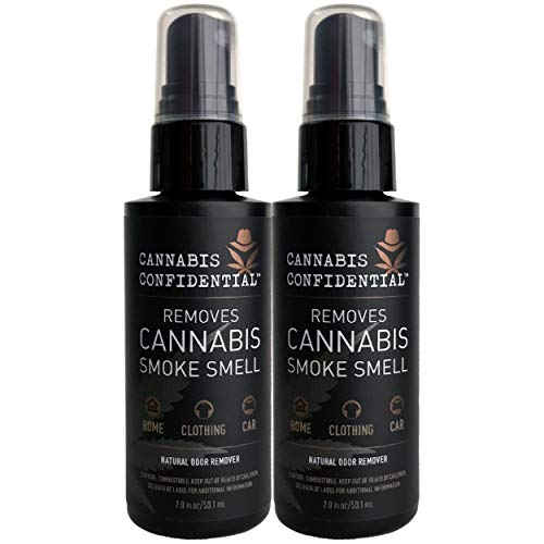 Cannabis Confidential-Instantly REMOVES Cannabis/Marijuana/Weed/Pot Odor Smell, Natural Neutralizer/Remover for Hands, Hair, Home, Rooms, Clothing, and Car, 2-Pack