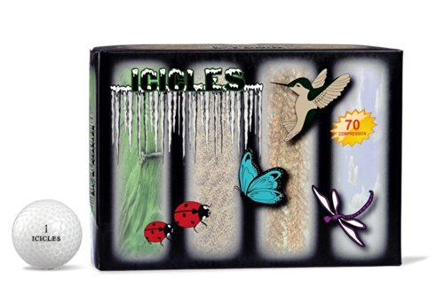 Collection Golf Balls (ICICLES Women's V Golf Wing Collection Ball, White)