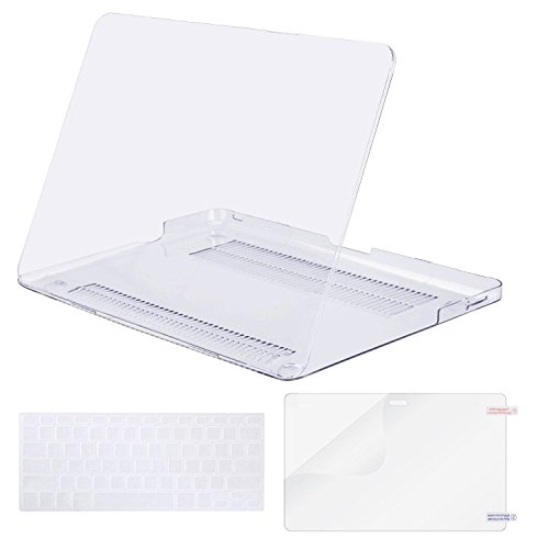 MOSISO Plastic Hard Shell Case & Keyboard Cover & Screen Protector Only Compatible Old MacBook Pro 13 Inch (A1278 CD-ROM), Release Early 2012/2011/2010/2009/2008, Crystal Clear