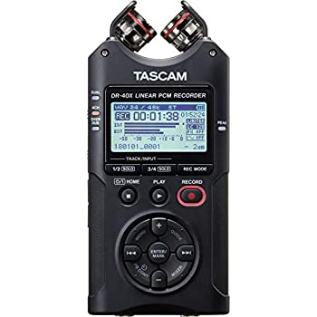 Image of Digital Tascam DR-40X Four-Track Digital Audio Recorder and USB Audio Interface