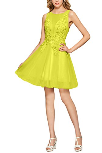 trapecio Ivydressing Amarillo mujer para Vestido 556wHq7rf
