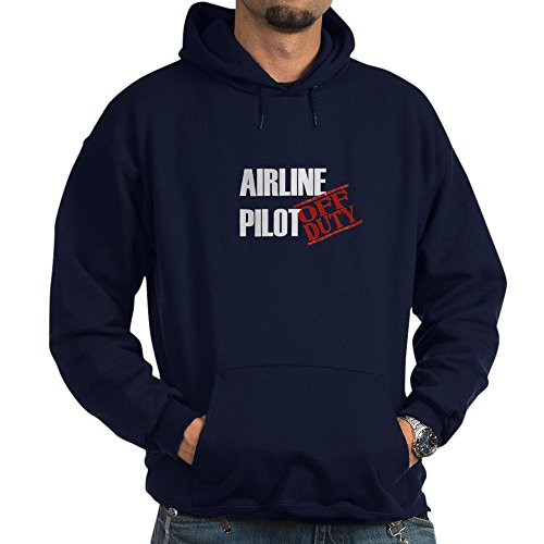 CafePress Off Duty Airline Pilot - Pullover Hoodie, Classic & Comfortable Hooded Sweatshirt (Pilot Jacket Airline)