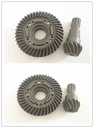 CrazyRacer Hard Chrome Steel Front & Rear Spiral Cut Ring Gear Differential/Pinion Gear For 1/5 6S RC Car 77076-4 Truck Hop-ups Instead Of #7777XṢX