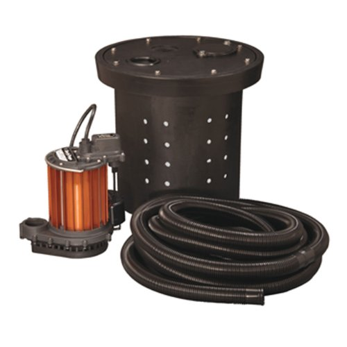 Liberty Pumps CSP-237 Crawl Space 1/3 HP Poly/Aluminum Sump ()