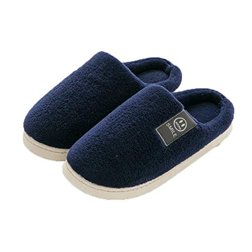 Antidérapant Coton Pantoufles À Mois Couples bleu De De flop Laine Intérieurs Épaisse Fond Chauds flip Domicile Pantoufles Doux ztxwaxIq