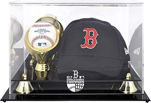 2007 World Series Logo Case - Boston Red Sox 2007 World Series Champs Acrylic Cap and Baseball Logo Display Case