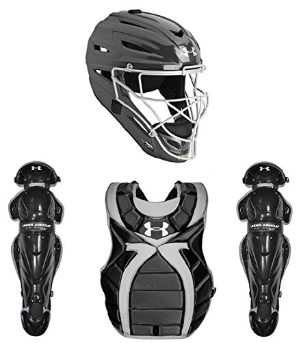 (Under Armour Girl's Fastpitch Softball Cathers Set (9-12) Black/Silver Size One Size)