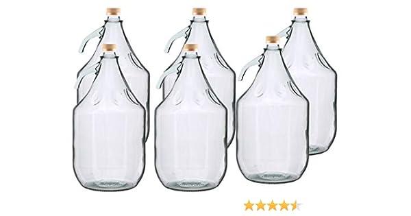 MultiDepot BDG5Z - Botella de Cristal para Carboy (6 Unidades, 5 L): Amazon.es: Hogar