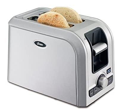 Oster TSSTRTS2S2 2-Slice Toaster, Brushed Stainless Steel from Oster