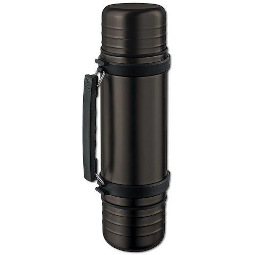 Isosteel VA-9562DQAT 1.0 Liter 34 Fluid Ounce Duo Double-walled Vacuum Flask, Color Titanium Gray ()