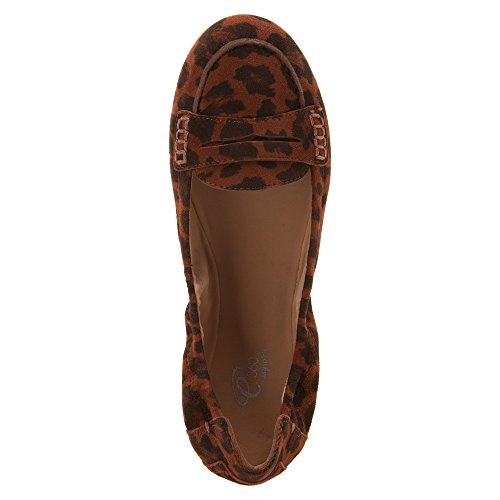 Grotto Dk Easy Leopard Brown Spirit Boat Women's Shoe 8a4TEq4