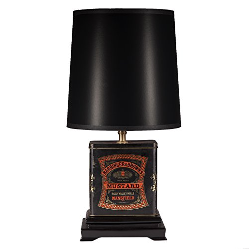 Small Unique Vintage Metal Kitchen Lamp (Metalware Tin)
