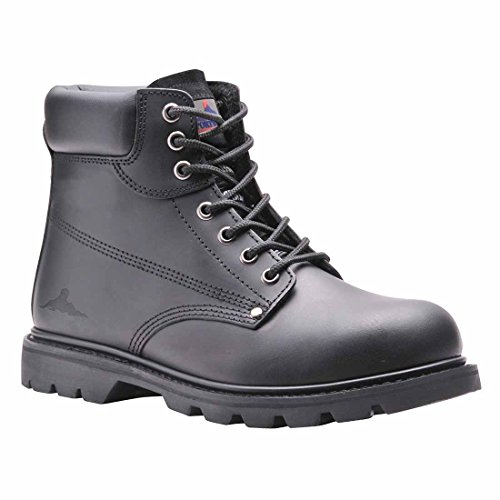 Portwest Steelite Welted Steel Toe Cap Safety Boot Black tLpmP