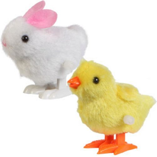 Easter Chicks And Bunnies - Greenbriar International Hopping Wind Up Easter Chick and Bunny