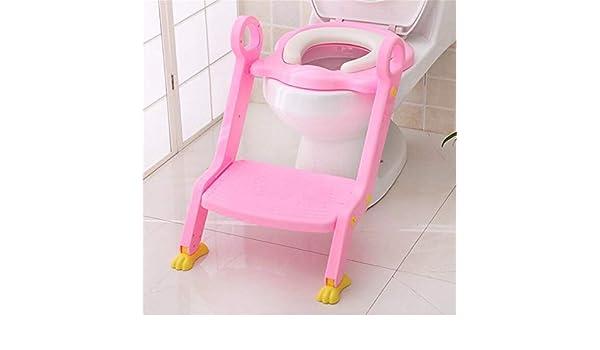 YICIX Reductor WC Silla para Escalera de Inodoro para bebé Asiento Orinal Step Up Entrenamiento para Inodoro para niños pequeños Taburete para niñas y niños,Pink: Amazon.es: Hogar