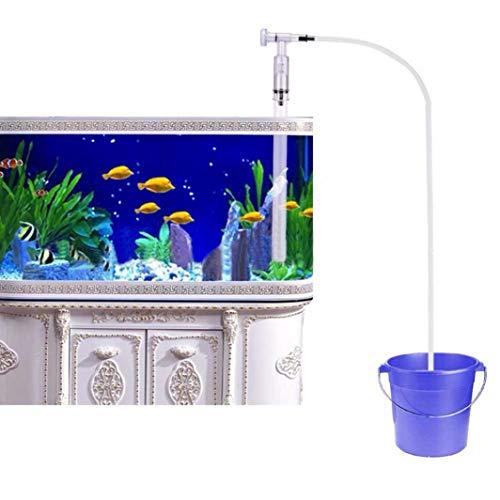 FZZ698 Aquarium Supplies Fish Tank Sand Cleaner Water Changer Filter Pump Aquarium Gravel Vacuum (white) from FZZ698