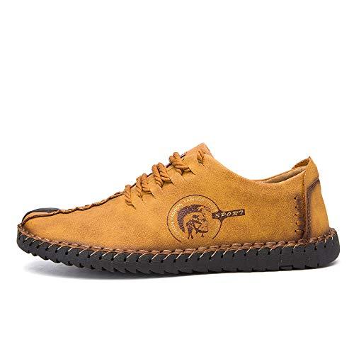 Casuales Amarillo Zapatos Cómodos Mocasines Fhcgmx Para Calidad Hombres 601 De Divididos Pisos ZqORw
