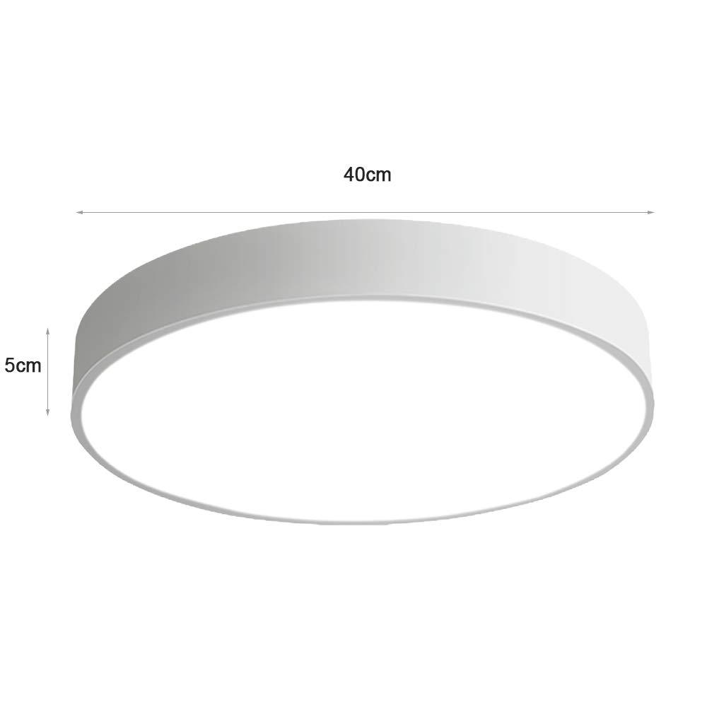 24W ultra d/ünn Deckenleuchte Deckenlampe rund dimmbar 3000-6000K wei/ß f/ür k/üche Dieler Schlafzimmer