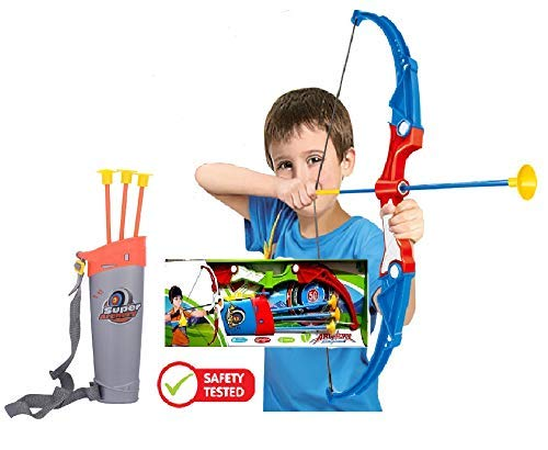 SUPER TOY Archery Bow and Arrow Target Game Toy for Kids with Target Board