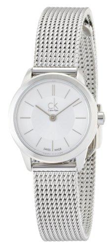 Calvin Klein Damen-Armbanduhr XS ck minimal Analog Edelstahl K3M23126