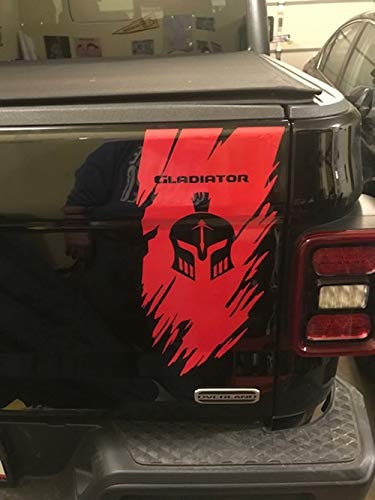 MULTI-COLOR or Reflective Ripped Gladiator Tailgate decal compatible with Jeep wrangler Rubicon Gladiator 2019 2020