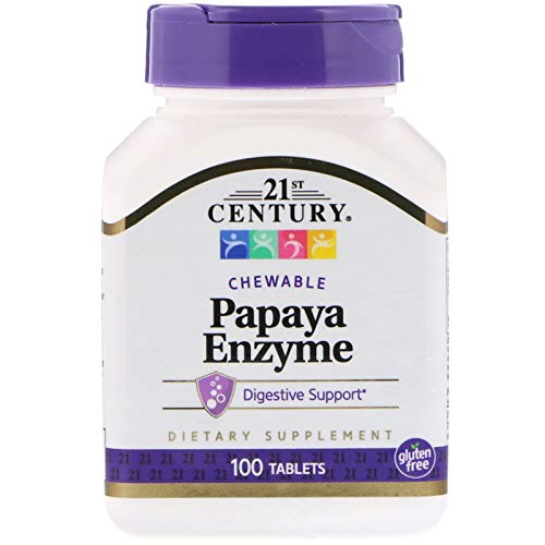 Tablets Enzyme 100 - 21st Century, Papaya Enzyme, 100 Chewable Tablets