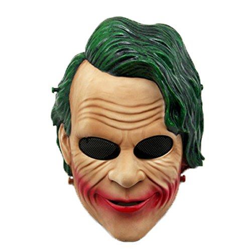 Clown Mask, Coxeer Cosplay Party Mask Horror Halloween Costume Mask Halloween Performance (Falling Head Halloween Costume)