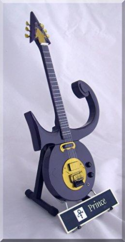 PRINCE Miniature Guitar Purple w/ Name Tag (Guitar Prince Electric)