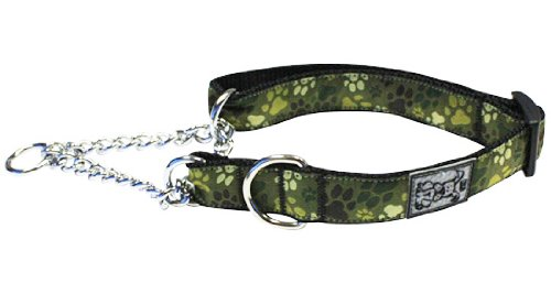 RC Pet Products 1-Inch Pets Training Martingale Collar, Large, 14 by 20-Inch, Pitter Patter Camo ()