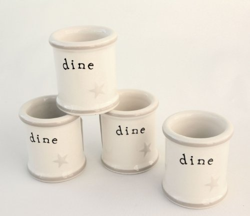 Word-Expressions-Dine-with-Star-Classic-Ceramic-Napkin-Rings-Set-of-12