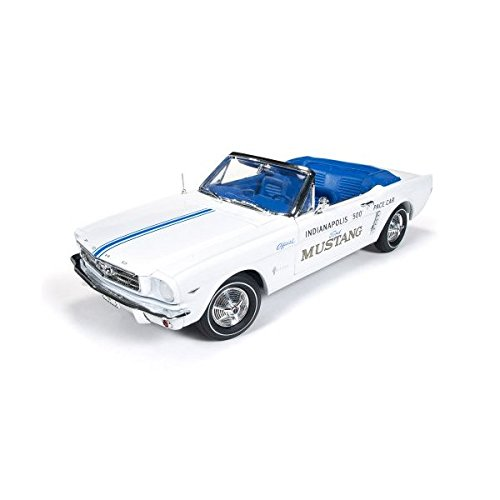 1964 1/2 Ford Mustang Convertible 289 V8 Indy 500 Pace Car Limited to 1500pc 1/18 Diecast Model Car by Autoworld Convertible Indy Pace Car