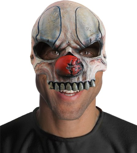 Rubie's Costume Half Chuckles Chinless Clown Mask, Gray, One (Chuckles The Clown Costume)