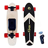 Hiboy S11 Electric Skateboard Portable 8.6 lbs Longboard with Hub Motor 12.5 mph Top Speed and Remote Control for Beginner and Youth