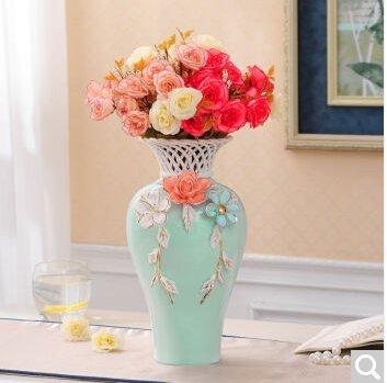 hand-ceramic vasi Home decorations-emulation vasi di fiori floreale ...