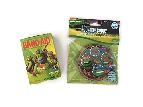 Boo Buddy (Turtles Cold Pack Bandage Bundle Children's Boo Boo Buddy First Aid Cool Pain Relief)