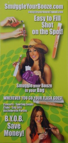 5 Tampon Flasks with 5 Wrappers - Hidden Flask - 1 Oz Test Tubes