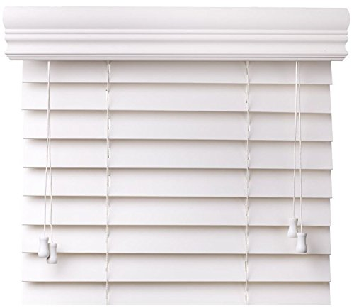 Bravada Select, Superior 2' Faux Wood Blinds (Pure White, 33 1/2' Wide x 36' Length)