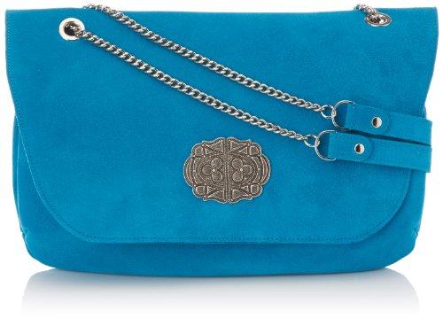 Sous Les Pavés - Manhattan, borsa donna, color Blu (velours Turquoise/argent), talla One Size