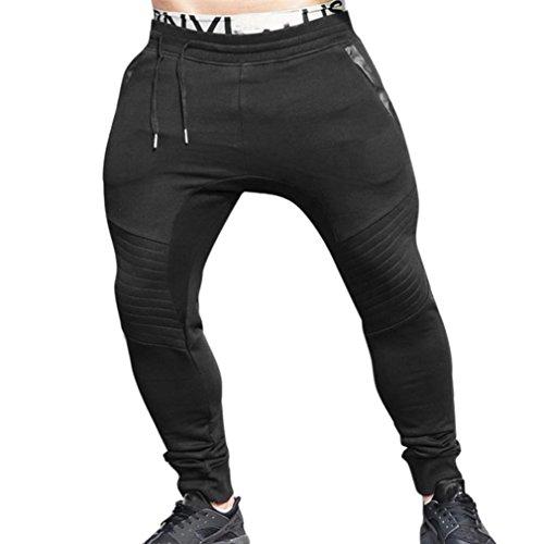 Price comparison product image Clearance!Men Sport Trousers, Todaies Men Gym Fitness Pants Jogging Elastic Stretchy Bodybuilding Sweatpants Trousers (XL