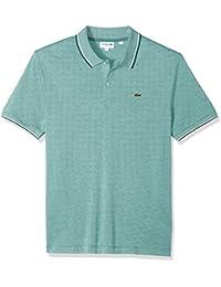 Men's Short Sleeve Slim Fit Semi Fancy Birds Eye Polo