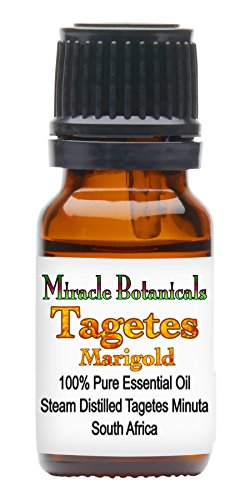 Miracle Botanicals Tagetes (Marigold) Essential Oil - 100% Pure Tagetes Minuta - Therapeutic Grade - 10ml